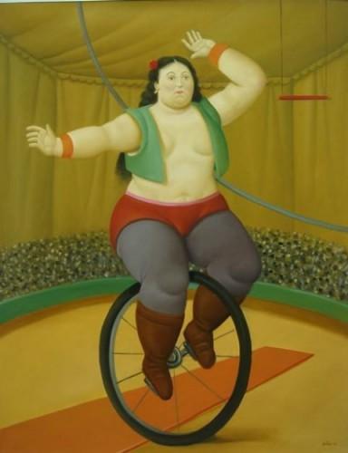 fernando, botero, colombiano, bicicletta, bike, circo, woman, cirque, autolettiga, donne,